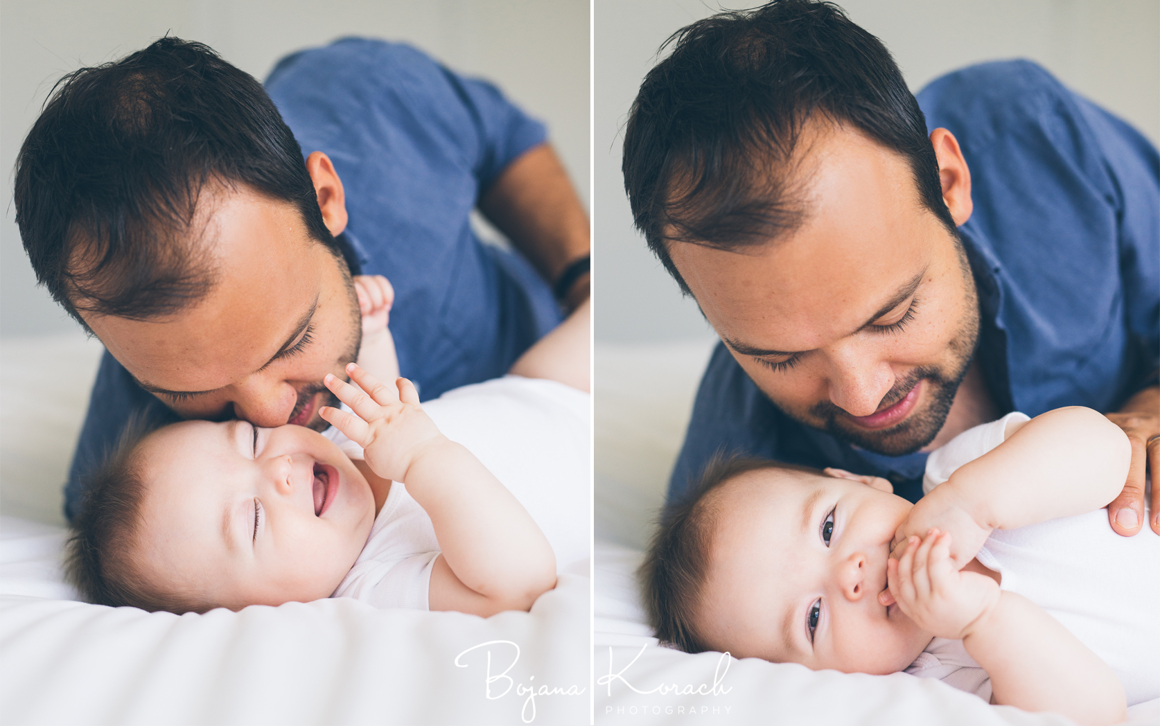 father and baby boy playing together