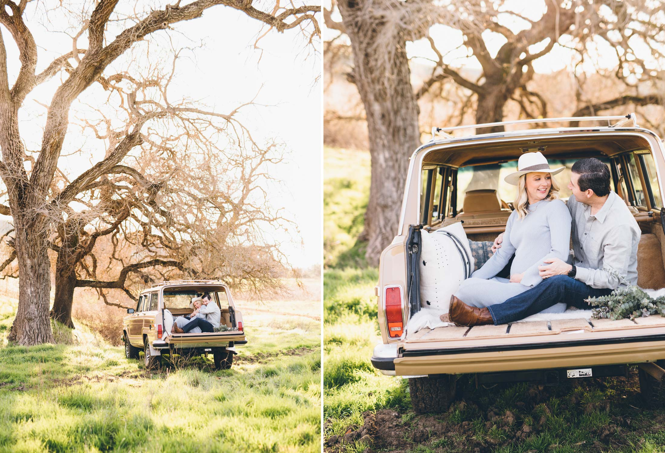 maternity-session-classic-car-open-space-oak-trees.jpg