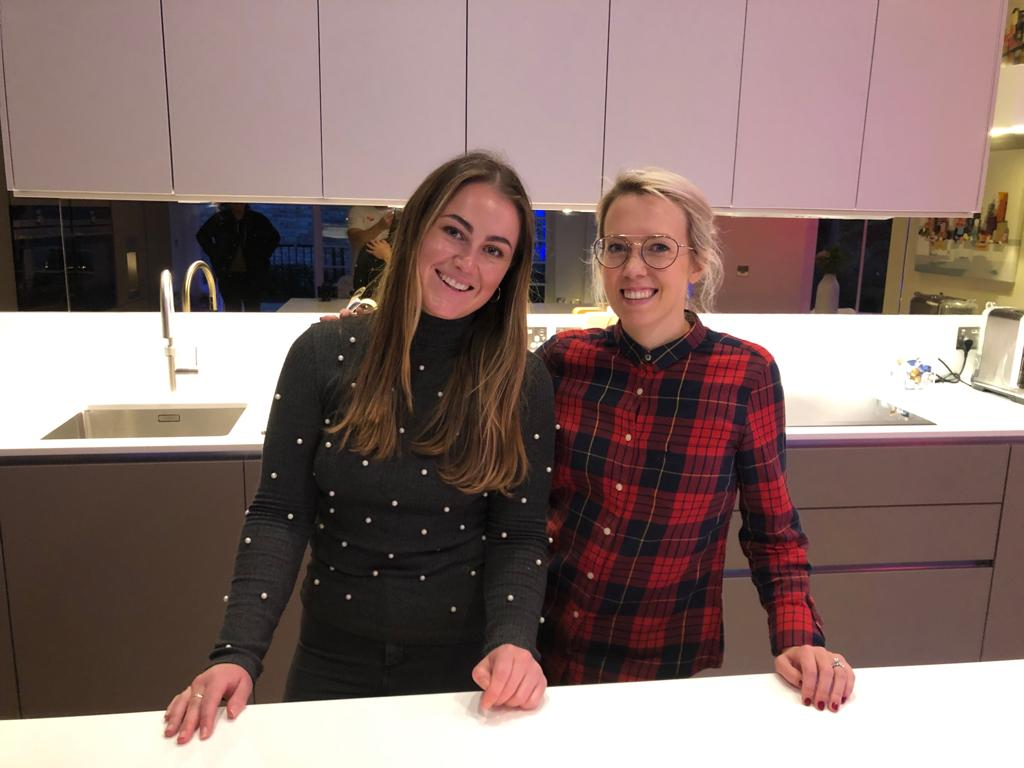 Tina-Dawn Hopking with client Sophie at a completed project in Murrayfield