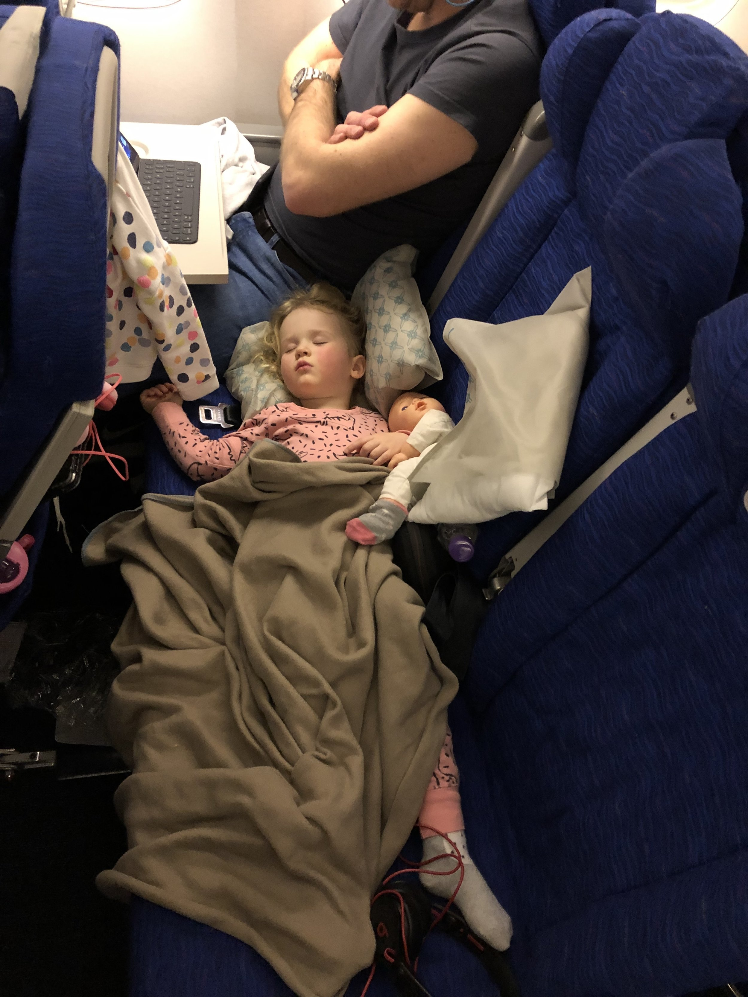 Every flight is business when you're two!