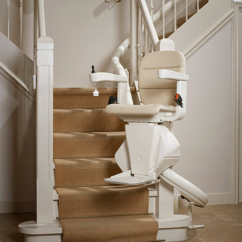 Freelift rembrandt inside bend curved stairlift