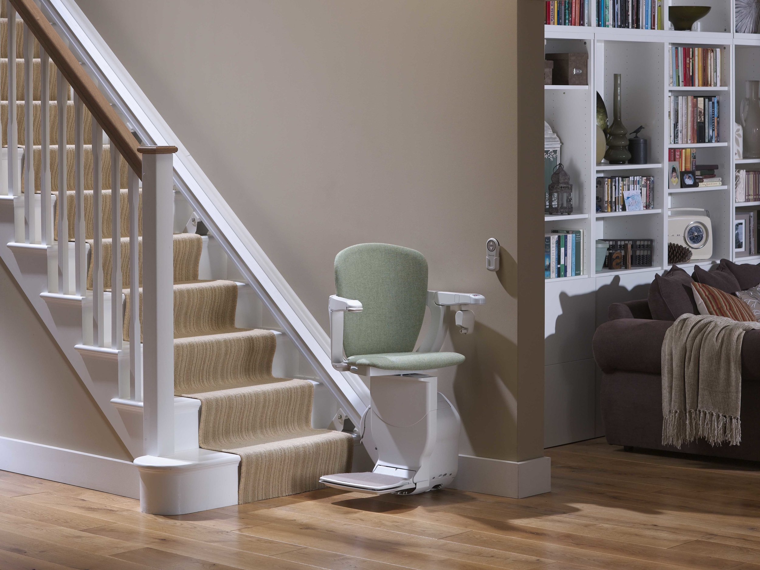 Stannah 600 straight stairlift Two Way Swivel Starla Seat