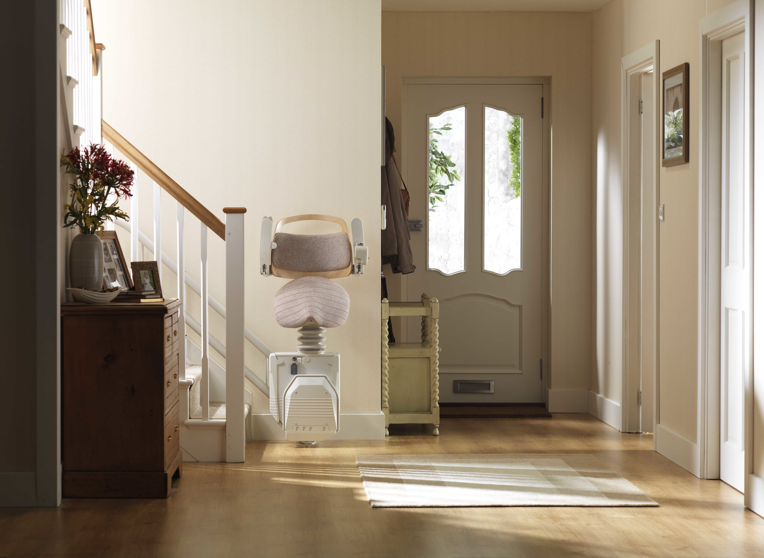 Stannah Sadler Perching Stairlift for Curved Stairs