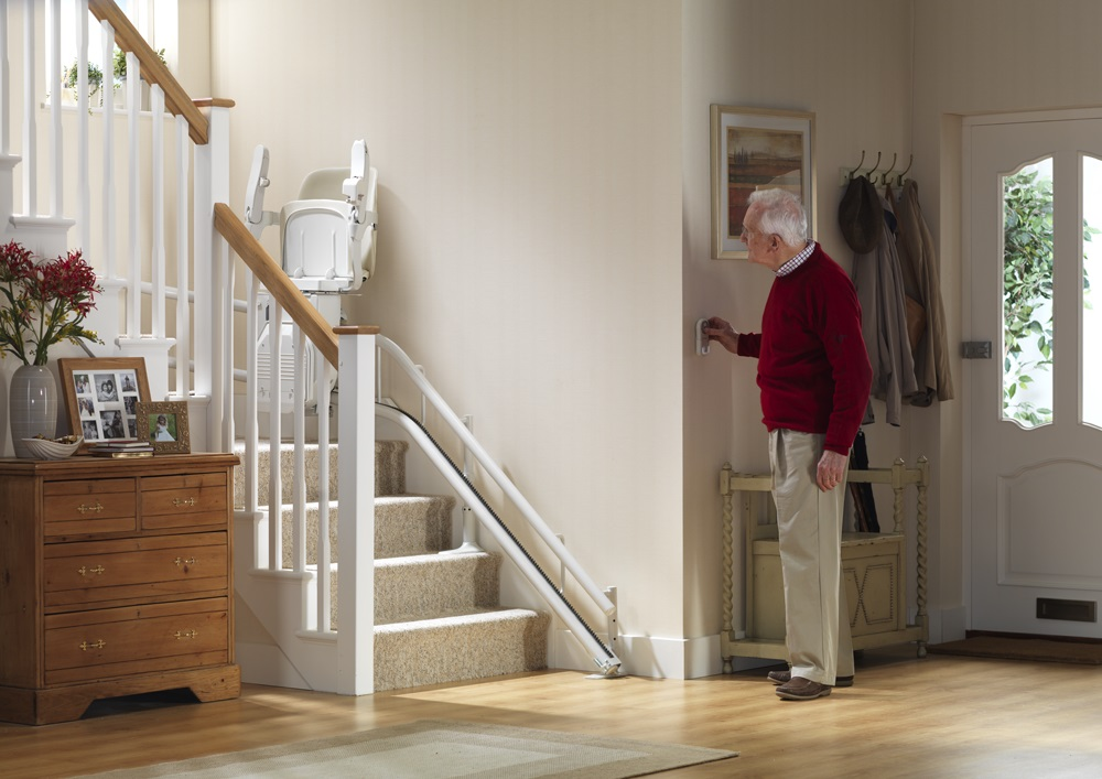 stannah Siena 260 Curved Stairlift Wall Controls