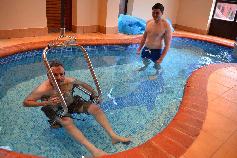Handi-Move Pool Ceiling Hoist Self Transfer System