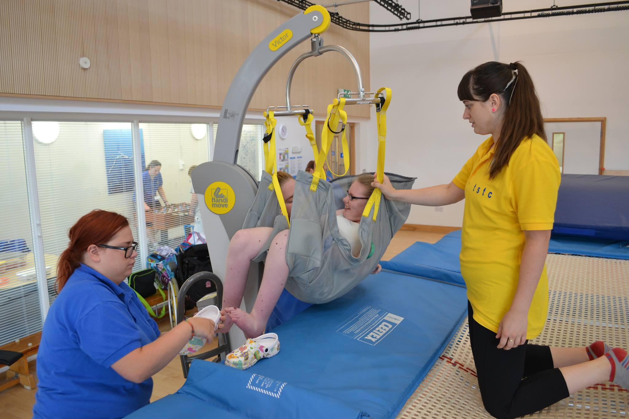 Trampoline Hoist for Rebound Therapy