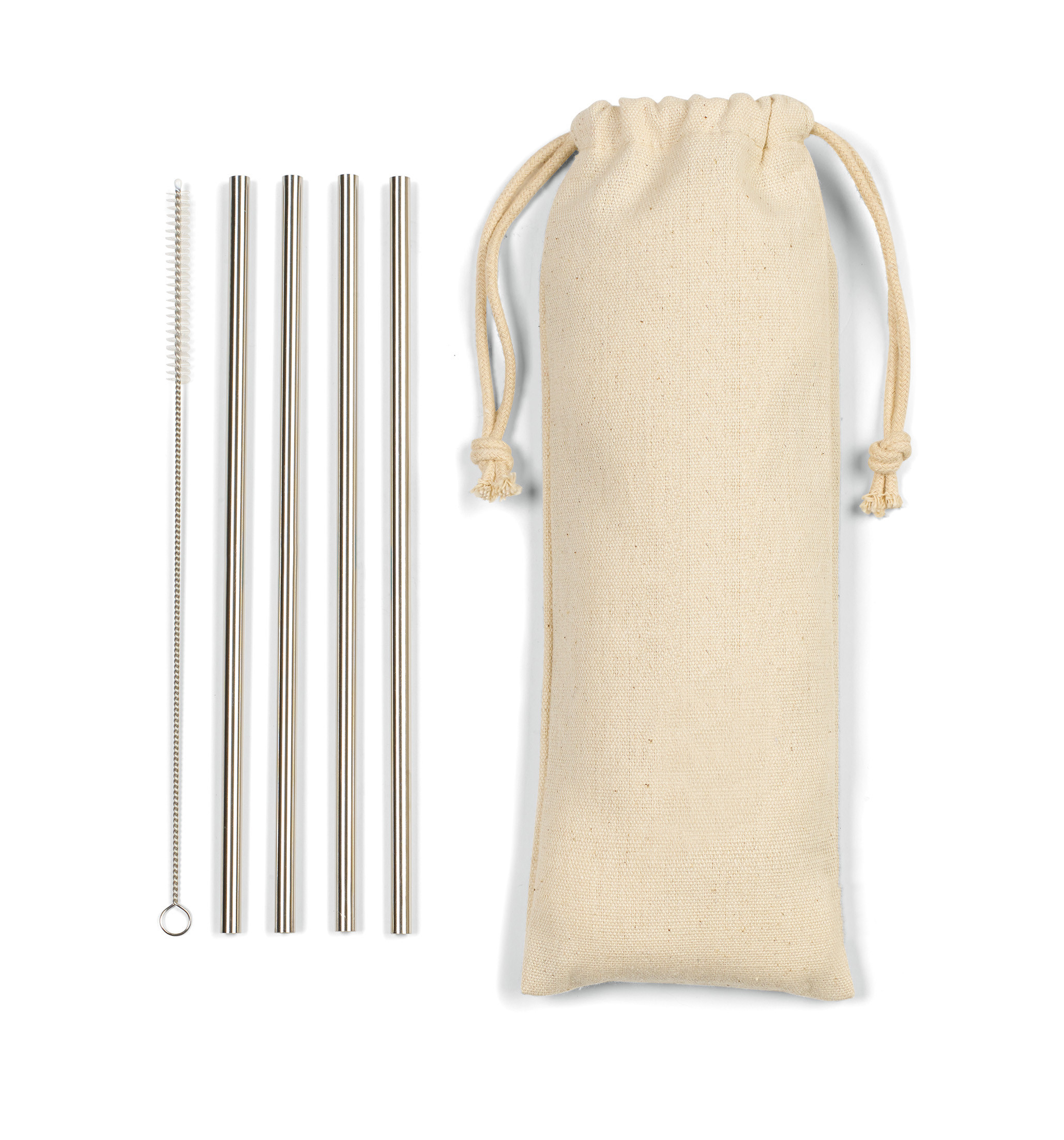 Reed Stainless Steel Straw Set