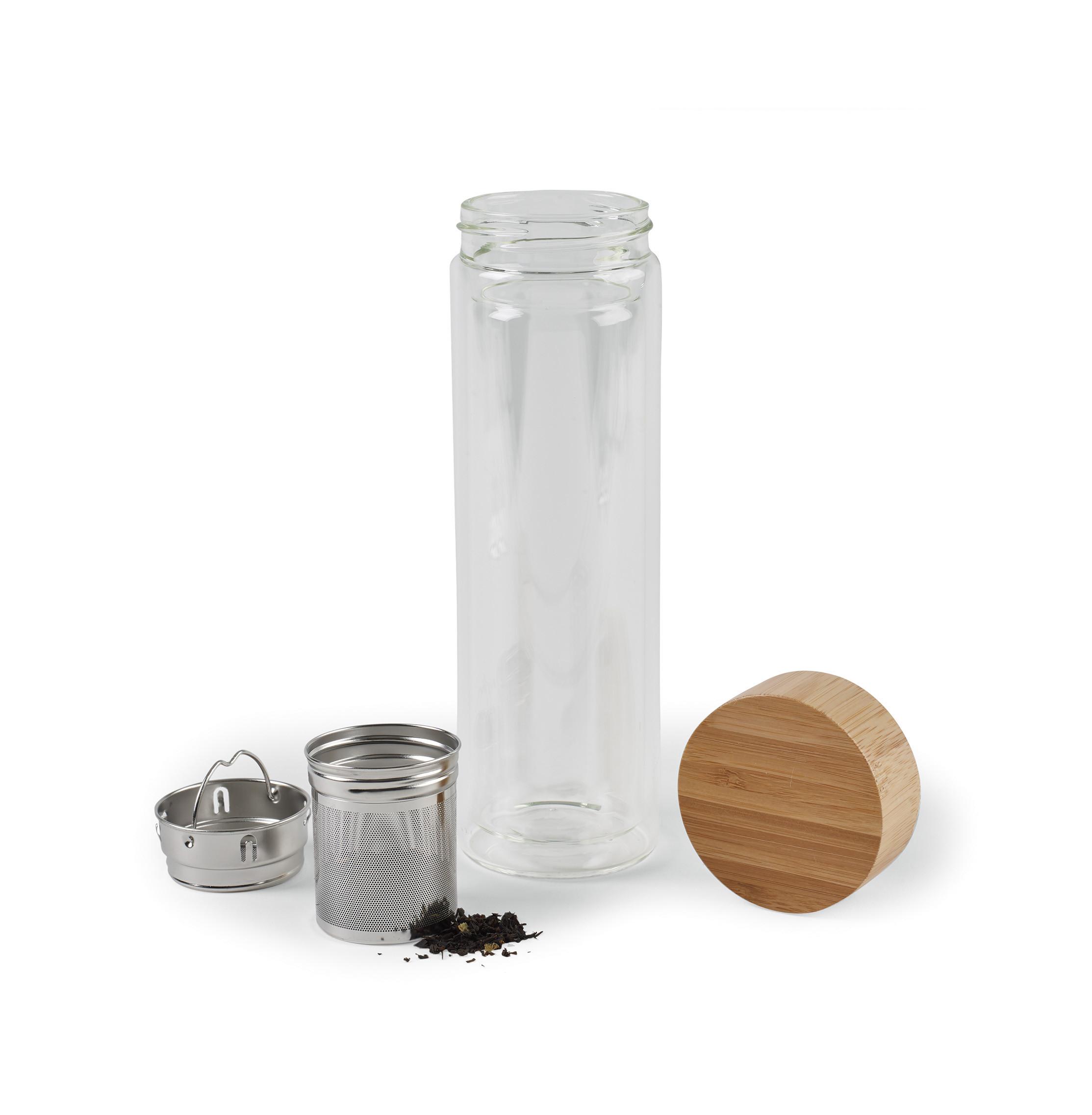Eden Double Wall Bamboo Glass Bottle
