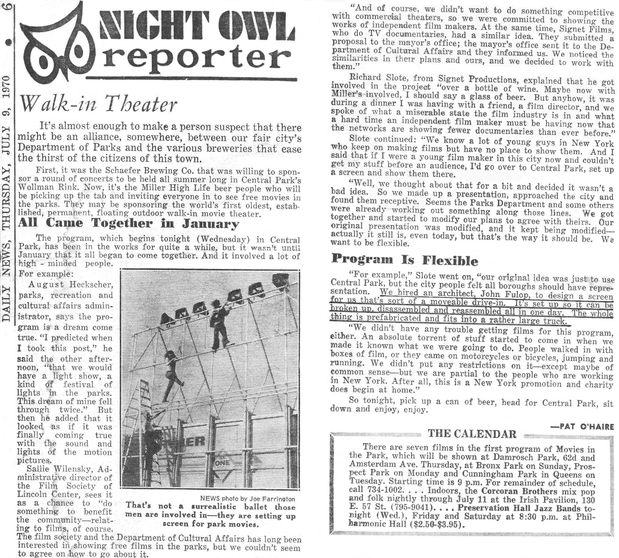 Daily News Article - July 9, 1970