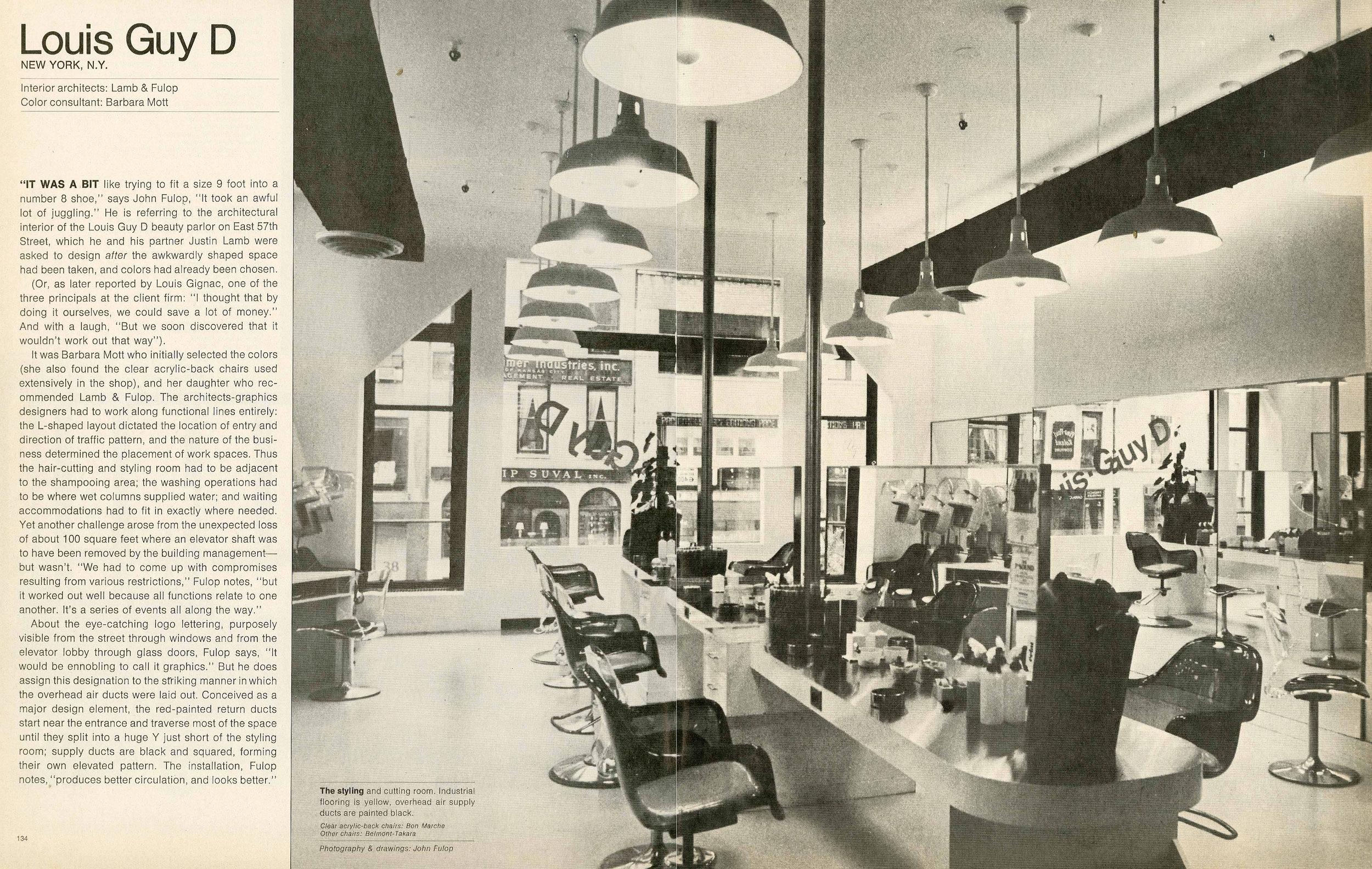 Interior Design Magazine - April 1974
