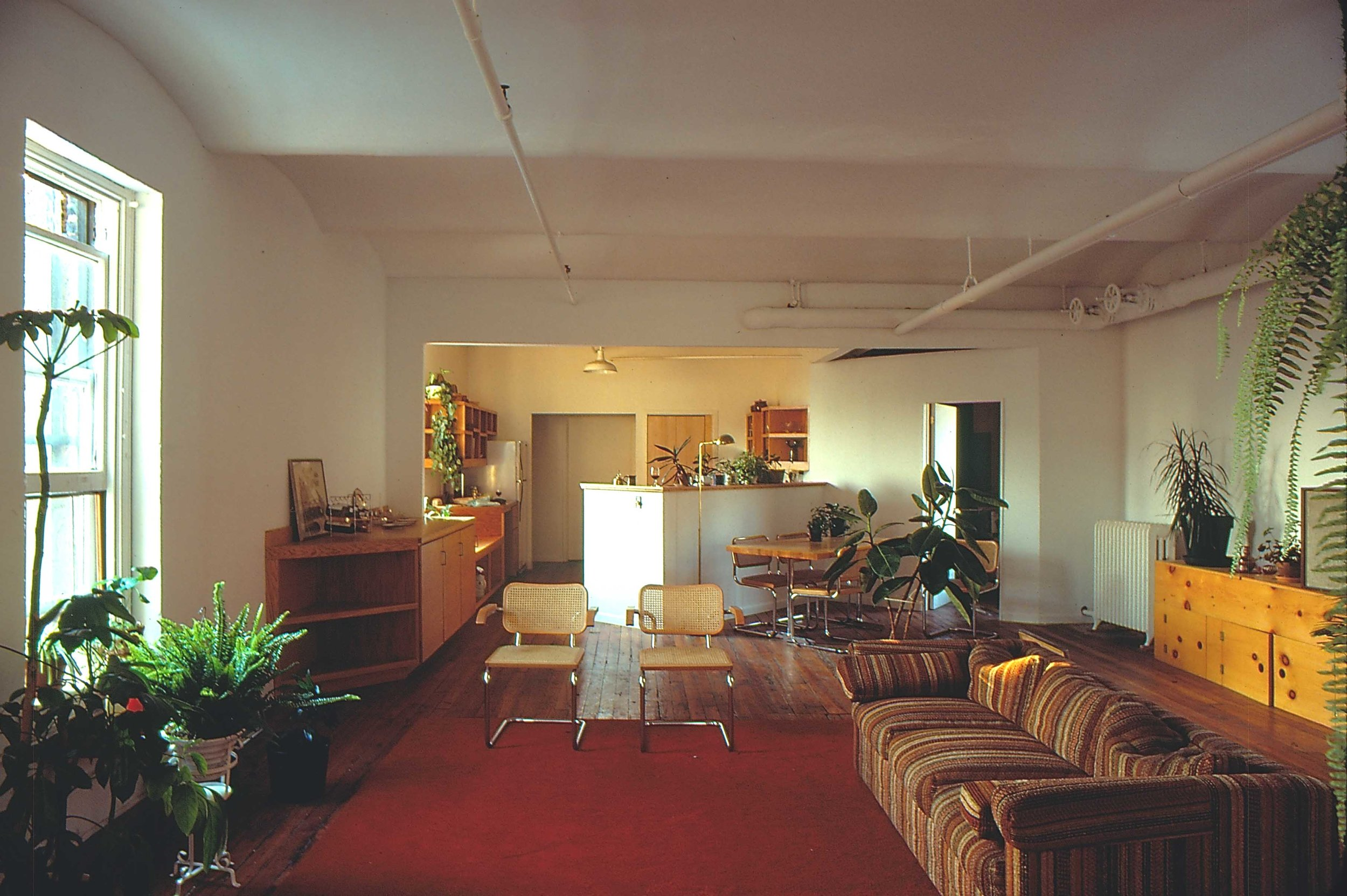 """BROADWAY LOFT, SOHO, NYC   The design for this space was unusual in that the building was """"long"""" enough to contain two residential spaces, therefore, the two Kitchens. One of the units was to become a rental."""