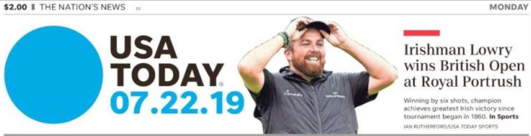 USA Today masthead 7-22-2019