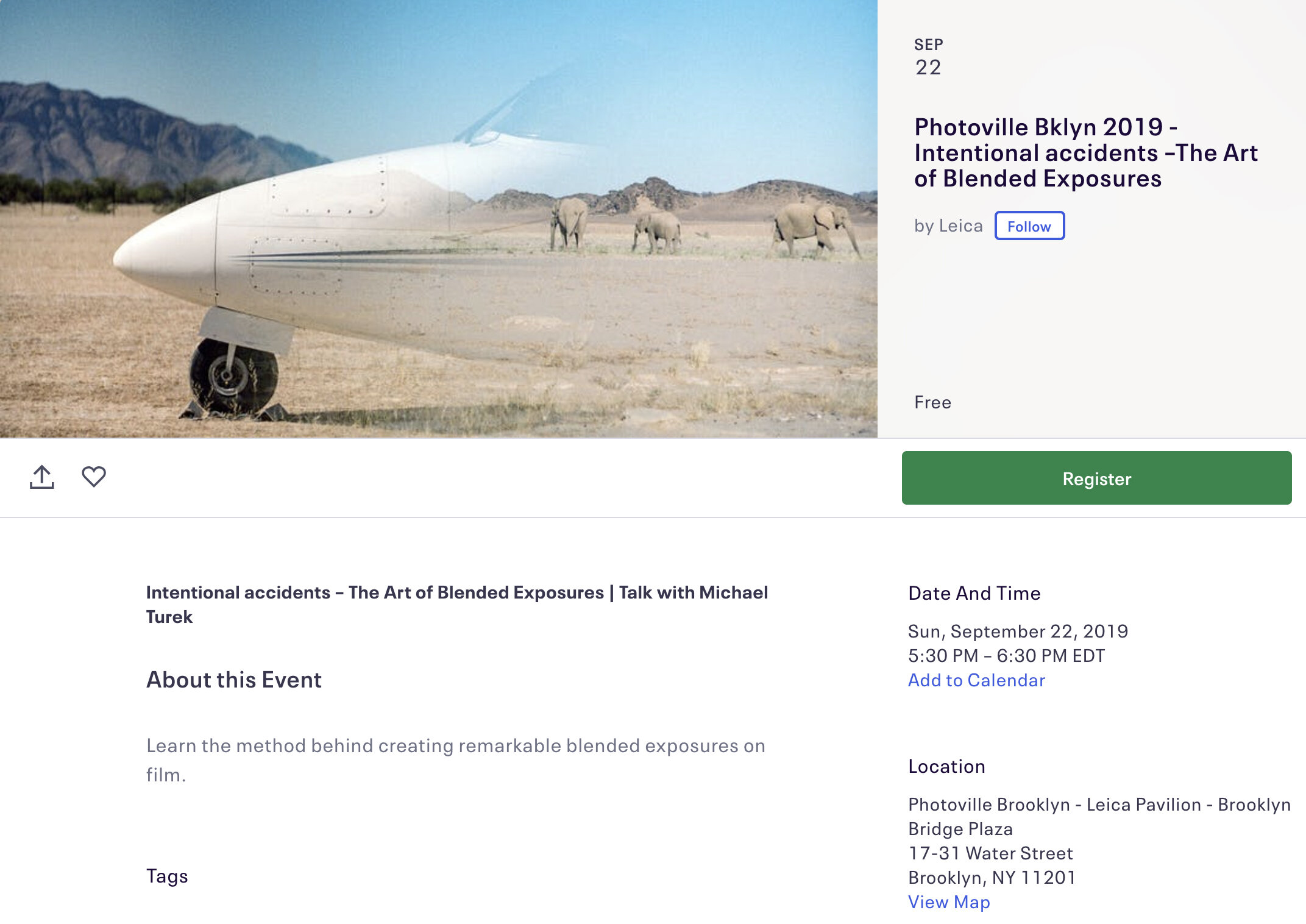 / Sept 22 2019 /   I'm speaking at Photoville Brooklyn about my Blended Exposures at the Leica Pavilion, 5:30pm, free