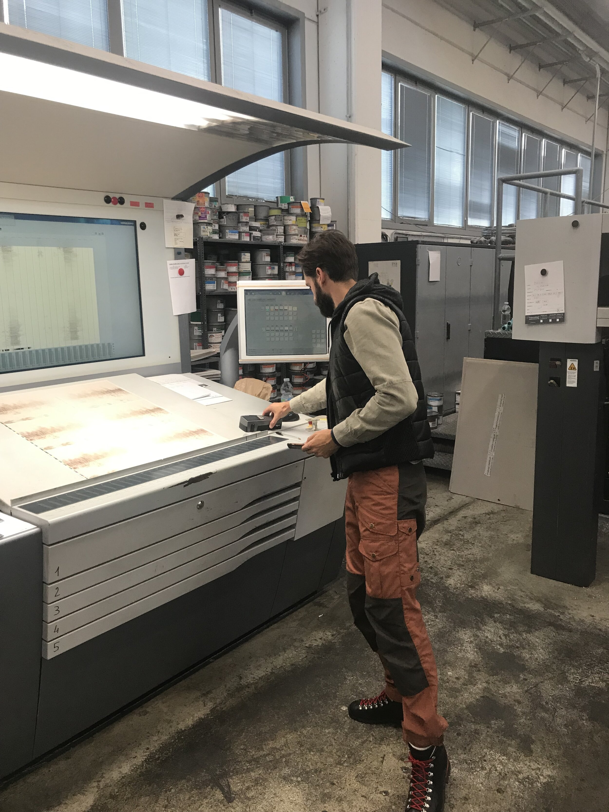 On press in Bologna, Italy to oversee printing of my book  SIBERIA , which will be published by Damiani, spring 2020
