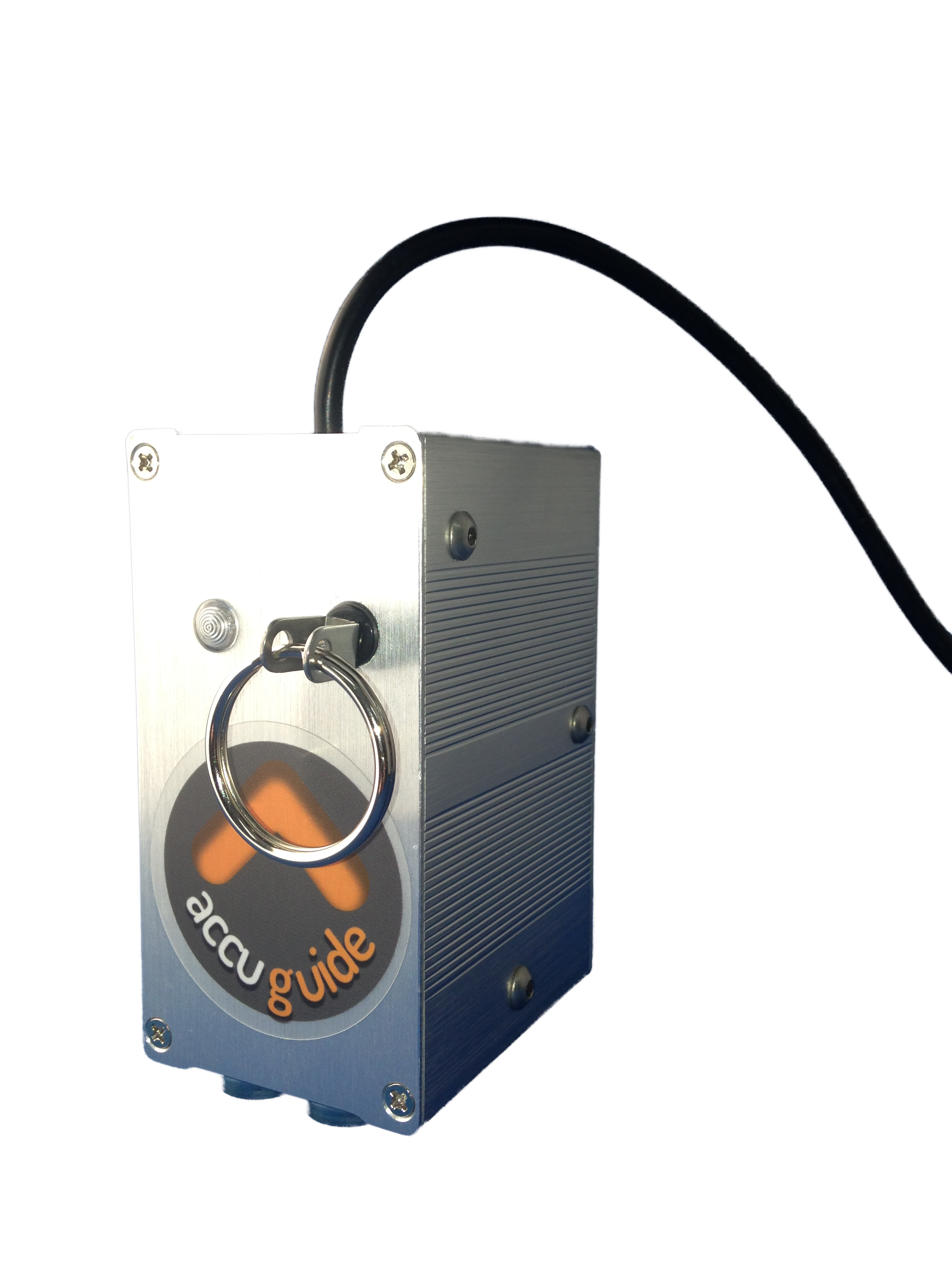 """The AccuGuide Device - AccuGuide is just 4"""" x 2"""" x 2.5"""" (HWD) and weighs just 1.1 Pounds"""