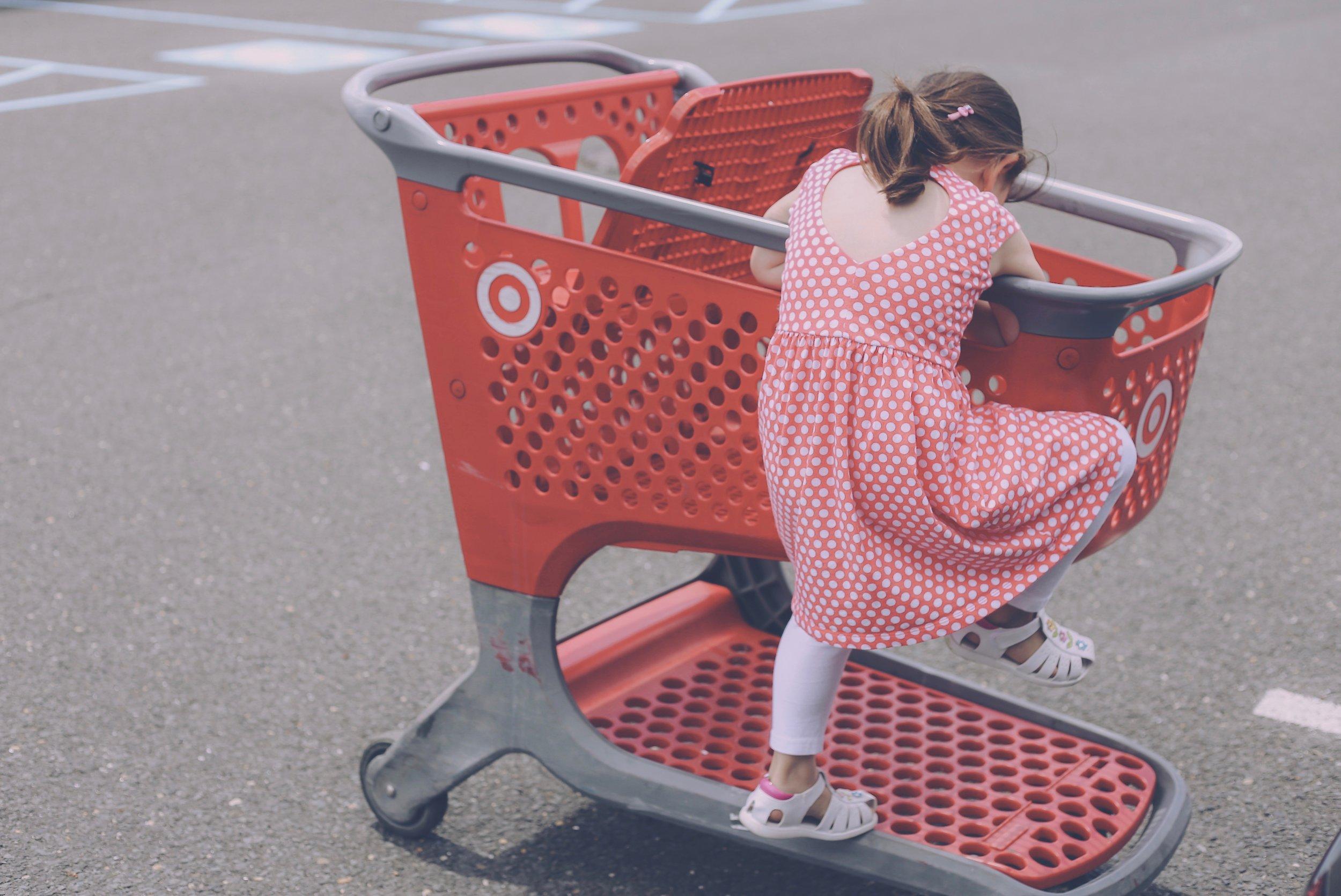 Target Shopping Cart, Family Photojournalism, Staten Island