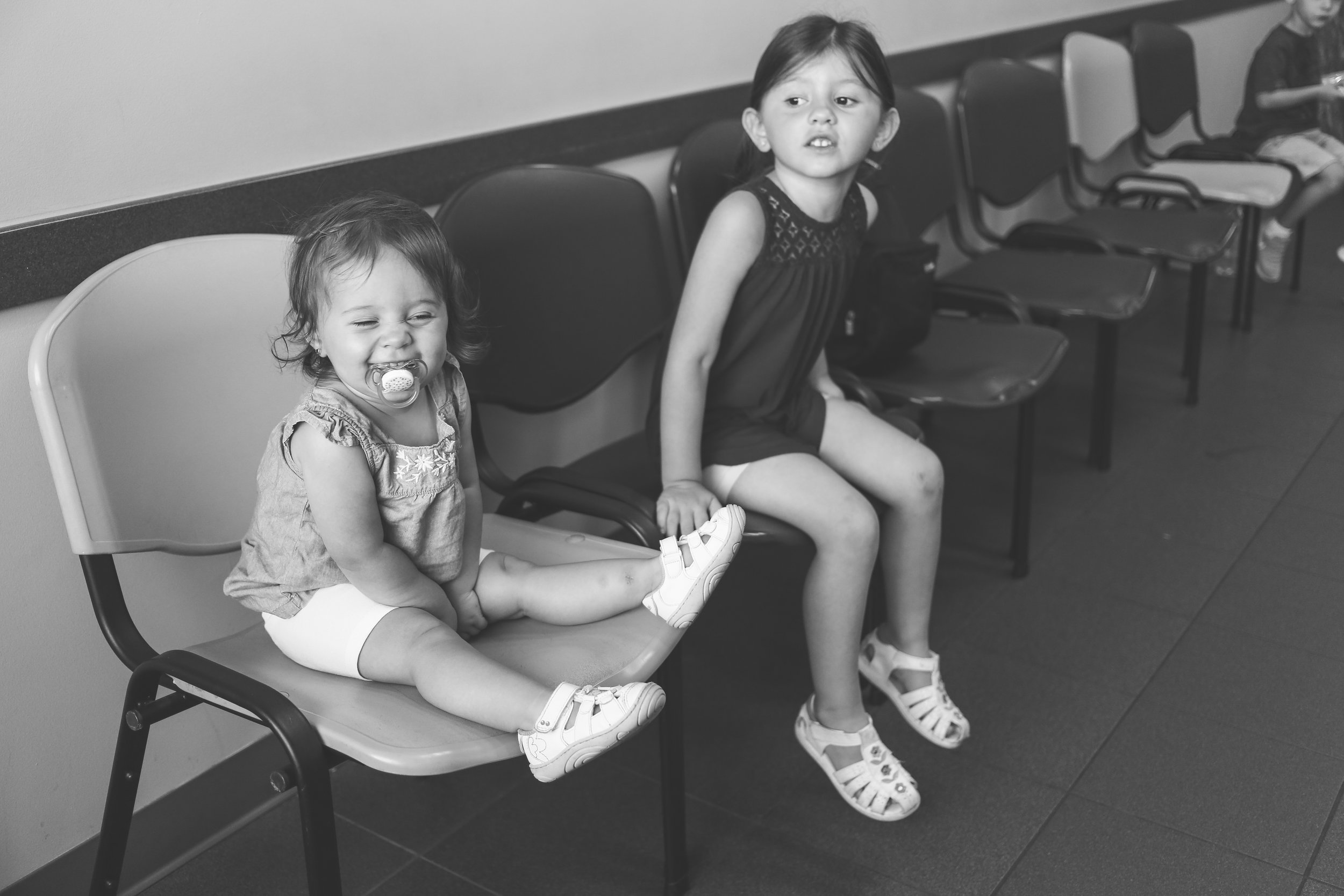 In the waiting room at Premier Pediatrics, Staten Island, NY, Family Photojournalism.