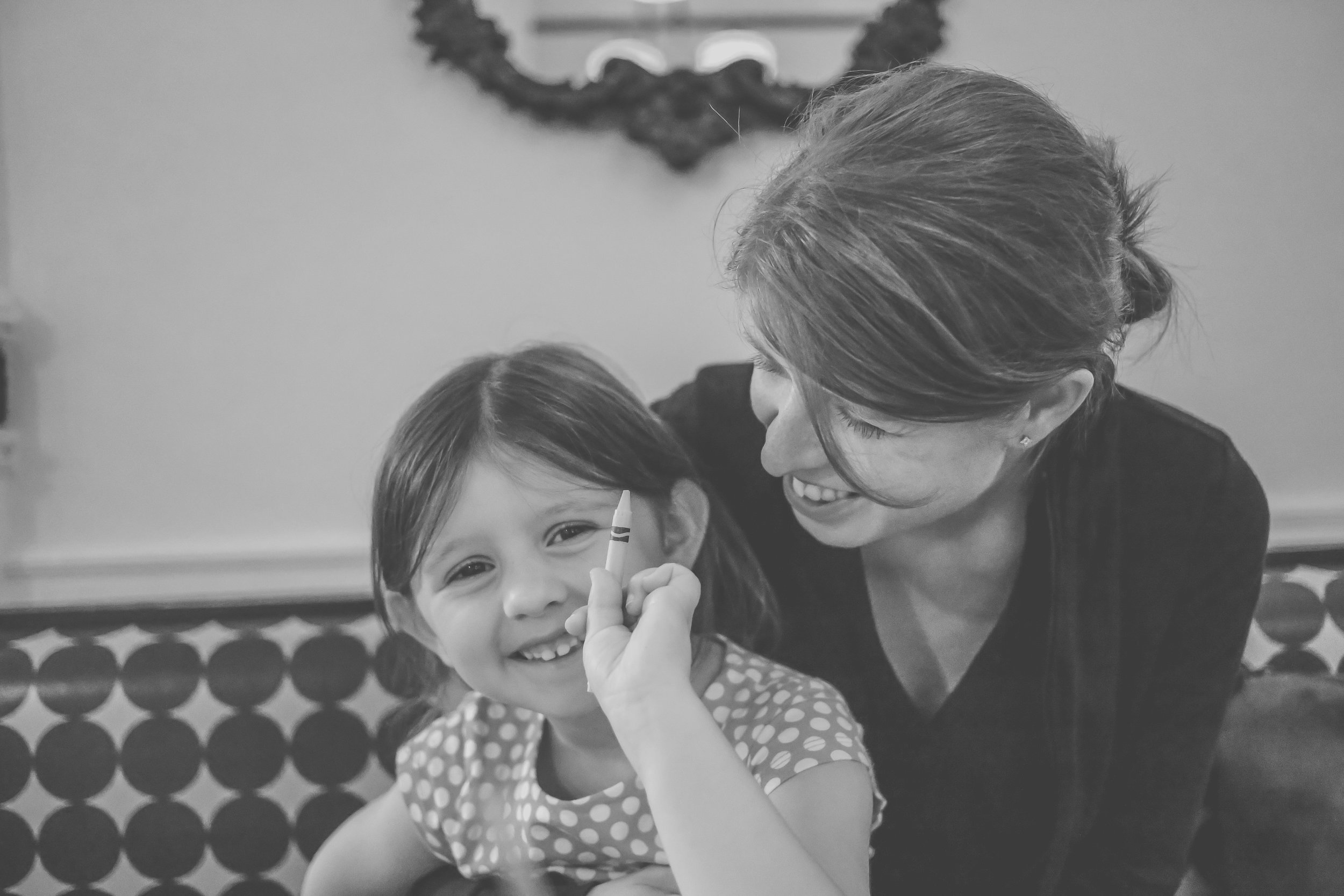 Mother and daughter, Sabrina's Cafe, Philadelphia, PA. Documentary Family Photography.