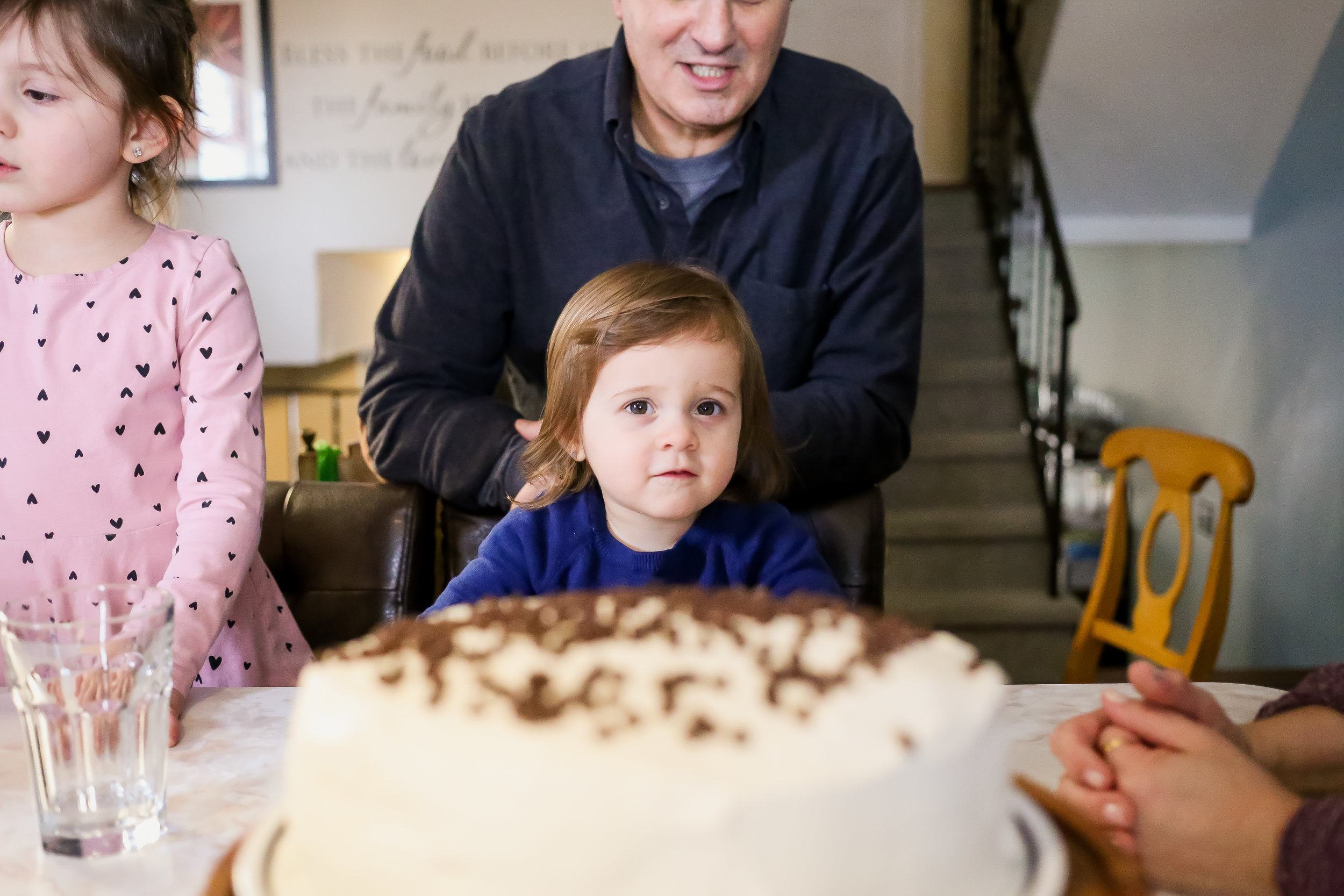 Two year old birthday party, special occasion family photography in Pennsylvania.