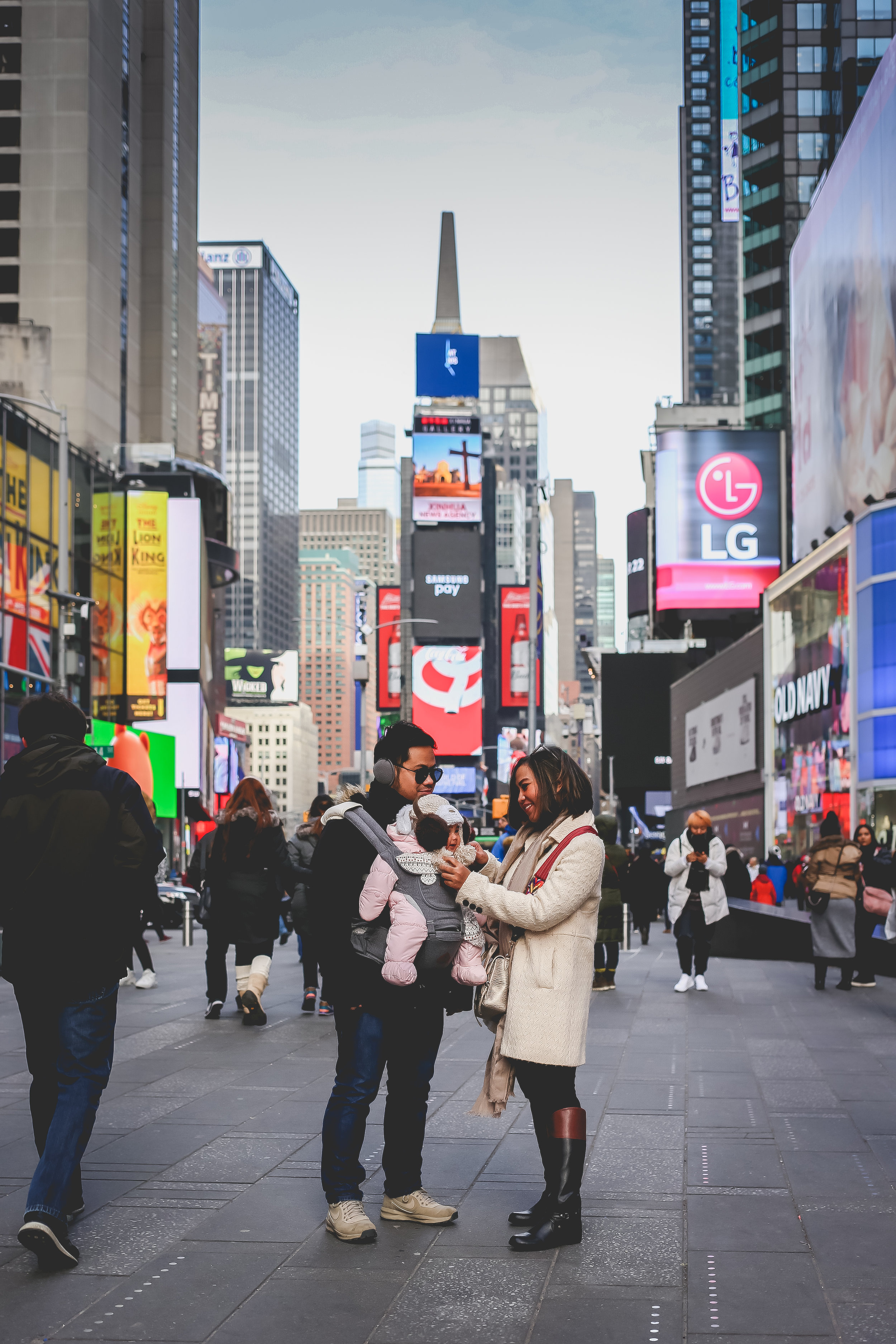 Midtown New York City, Times Square photo session with Jen Grima, vacation photographer.