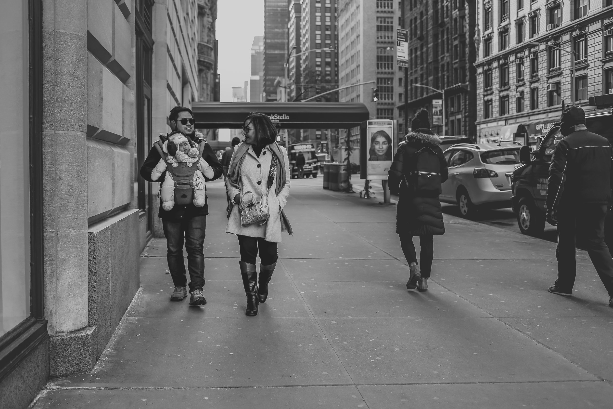 Walking the streets of New York City, vacation family photography by Jen Grima.