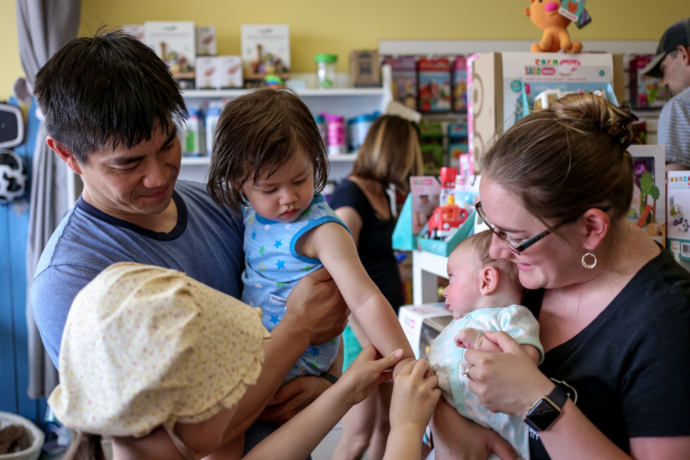 Members of the tribe at Ju-Ju Monkey, a hub for parenting in Lehigh Valley, PA.