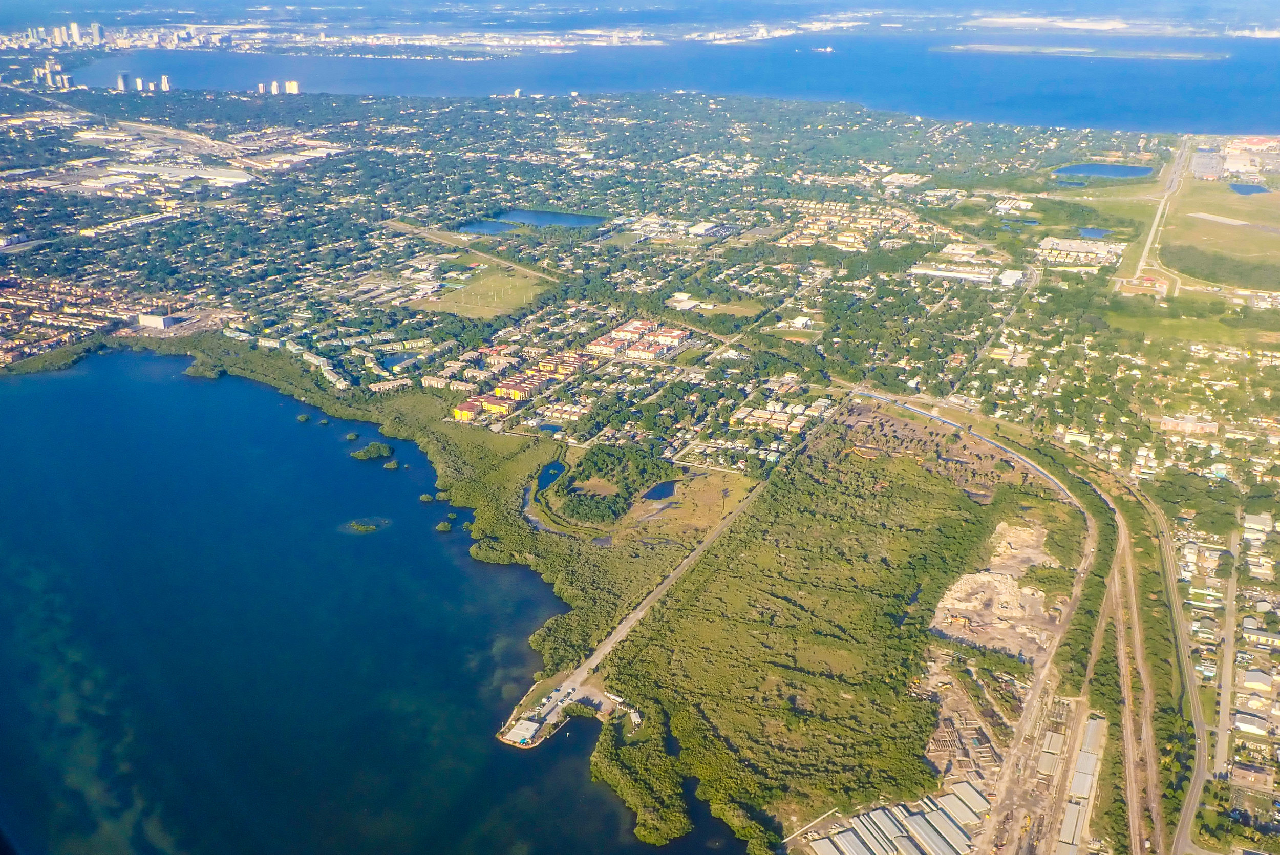 View from above of Tampa, Florida.