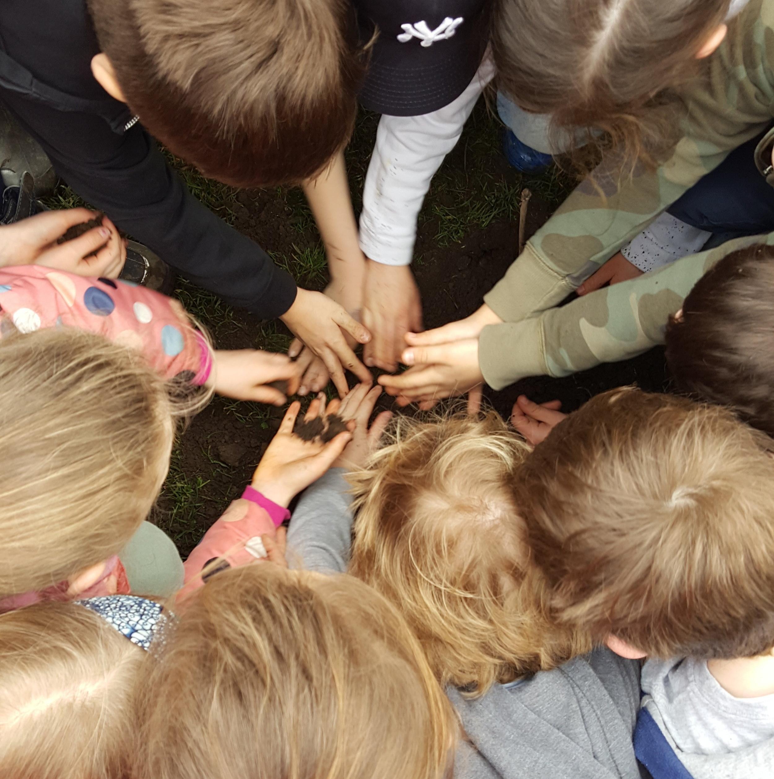 School children getting their hands dirty - Saturday 10th February