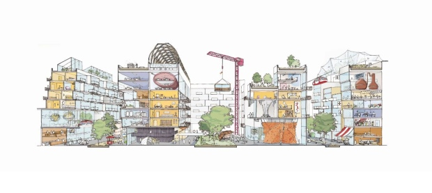 An image showing the 'mixed-use vision' for the envisioned Sidewalk Labs neighbourhood. (Sidewalk Labs)