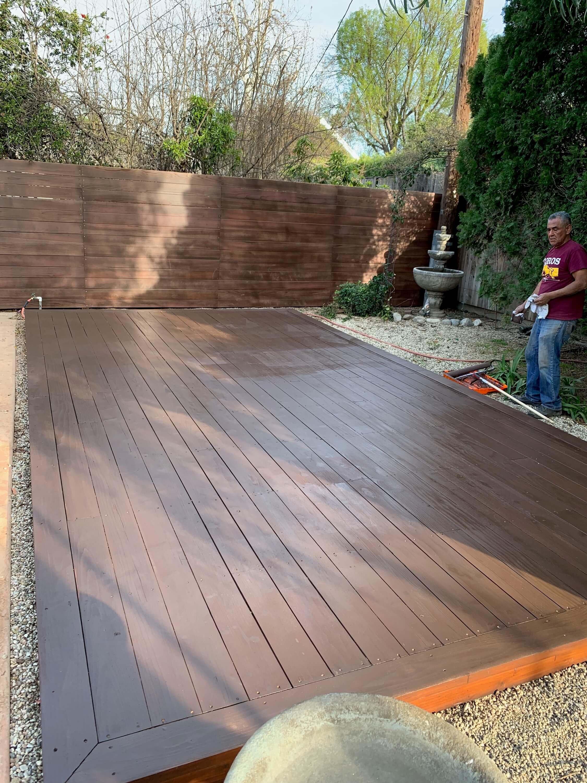 Deck Refinish - LA Fence Builders.JPEG