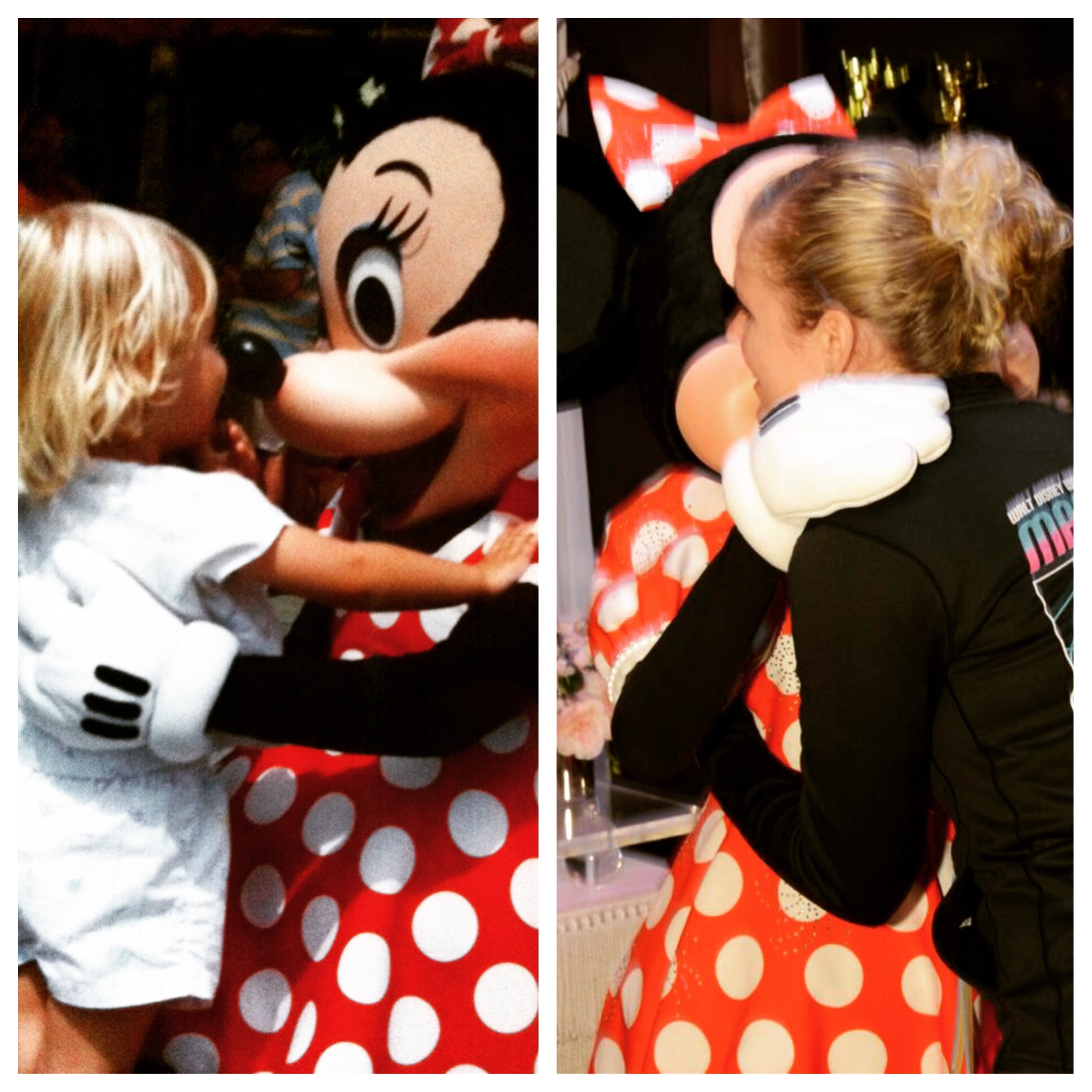 Shannon's all time favorite, Minnie Mouse (1990 & 2015)  Proving that the magic is always there in every vacation, regardless of age!