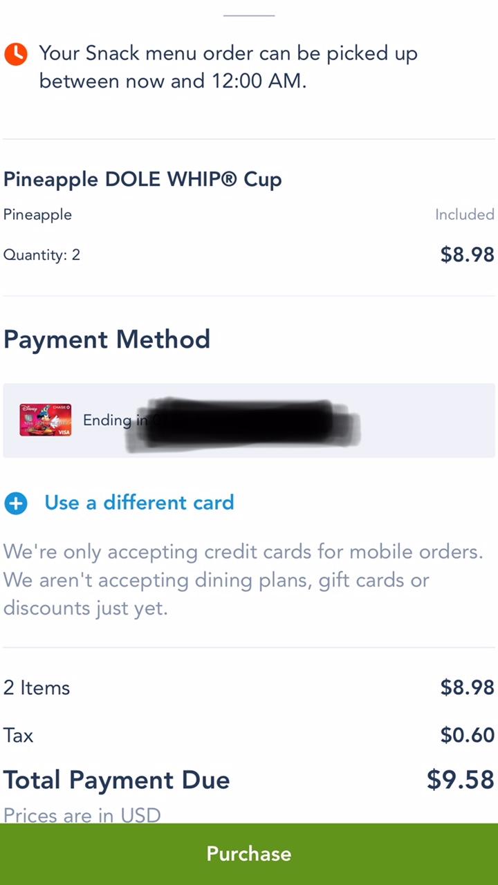 MyDisneyExperience App Mobile Ordering