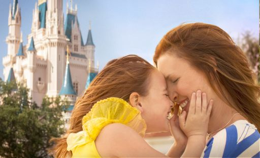 Mom and Daughter at Cinderella Castle