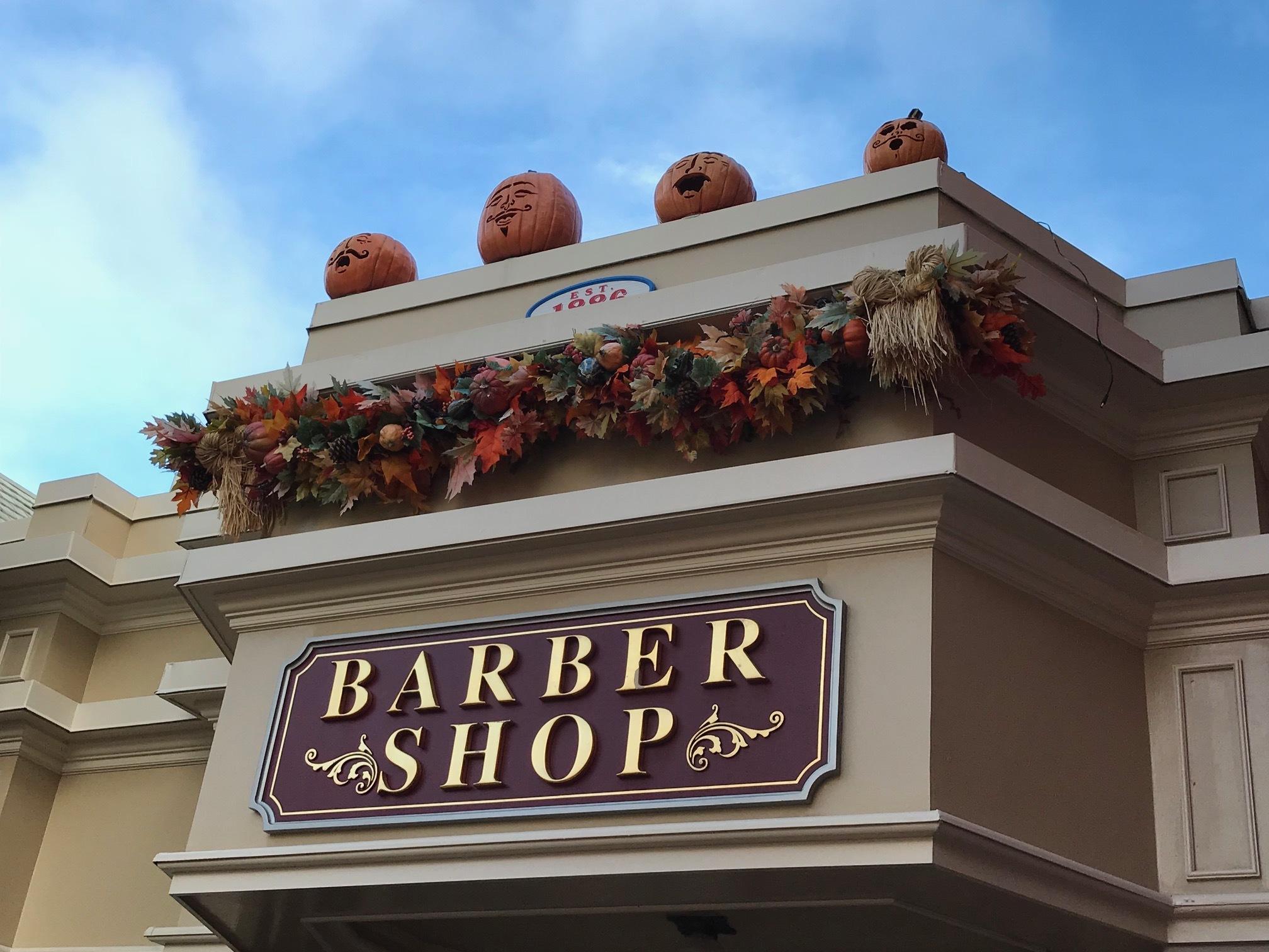 Barber Shop on Main Street USA