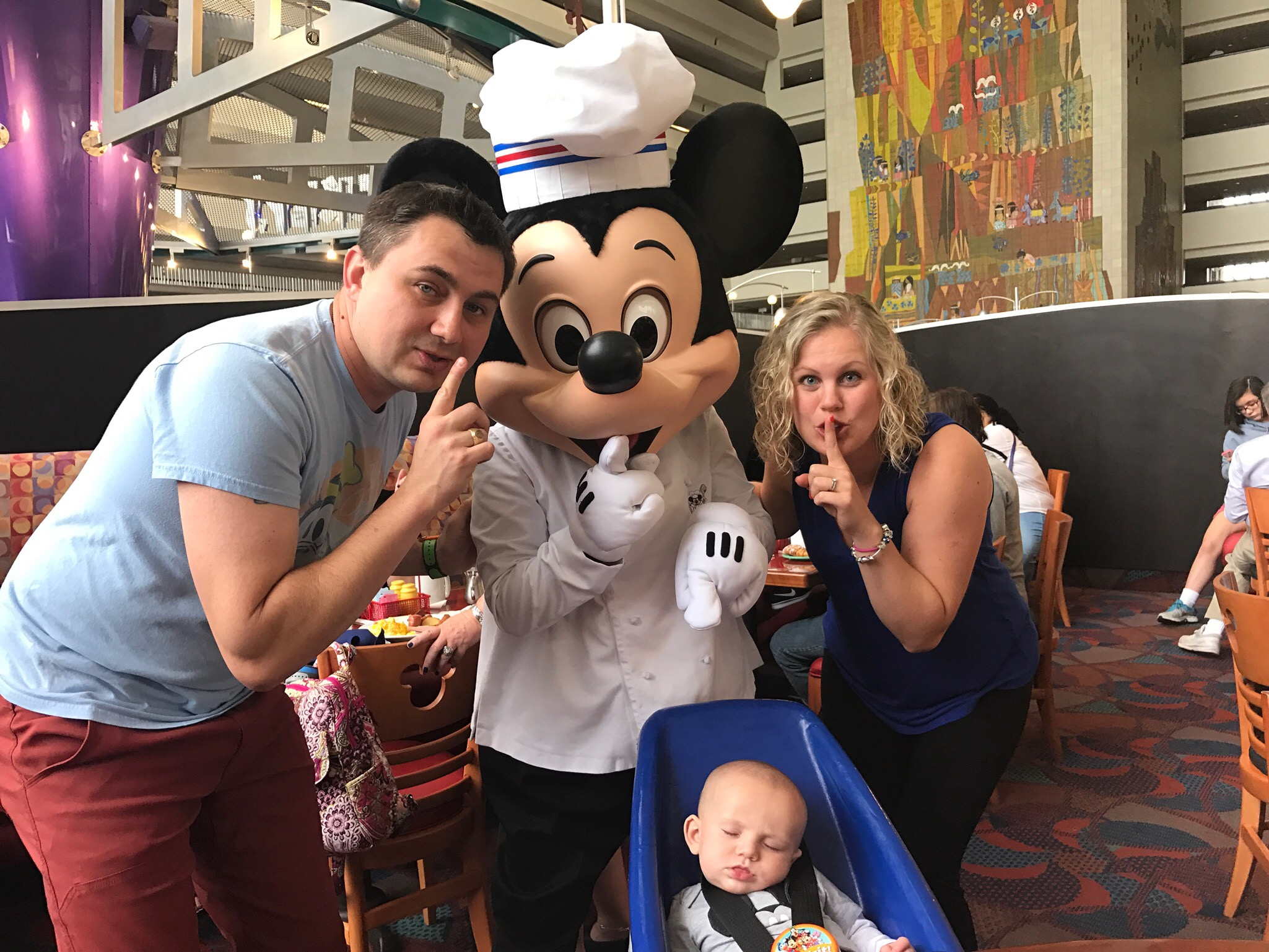 It is okay if they nap during your Chef Mickey reservation! Because Disney is for families — and they make every moment magical!