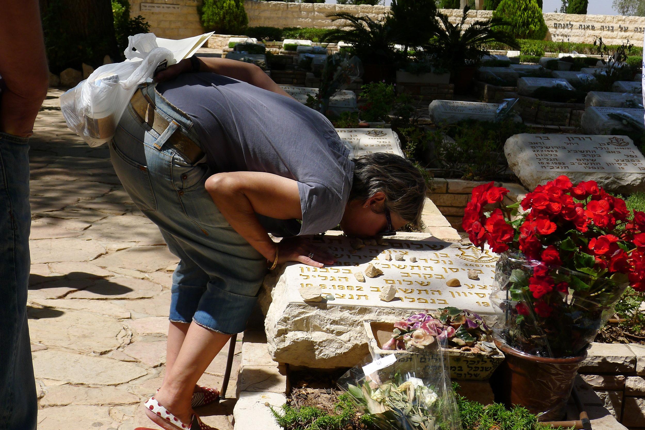 Commemorating a fallen loved one on Har Herzl