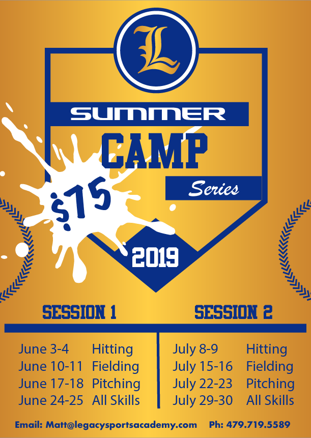 Camp Times will be 9:30am to 11:30am $75 for Non-Members $70 for Members