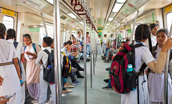 The New Dehli metro system in India is one of the many large-scale electricity projects being evaluated for the potential to integrate renewable energy.