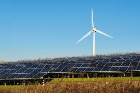 renewable energy solar panel and wind energy