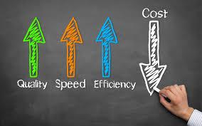 在生产过程中节省成本、速度、质量和效率