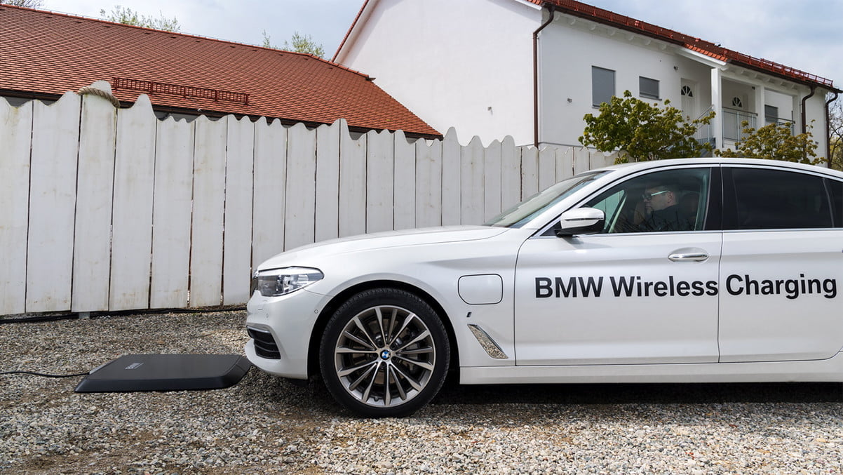 BMW Wireless charging pad for electric cars