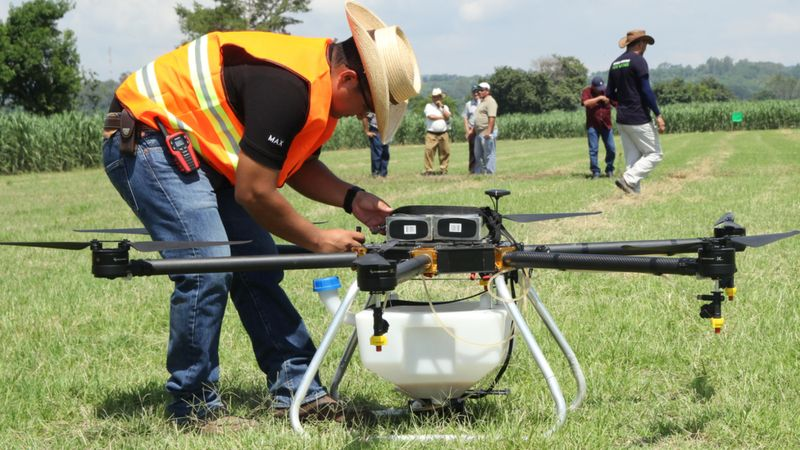 The drones need human teams to mange them, but labour is cheaper in emerging economies