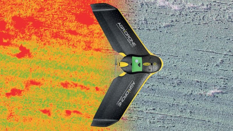 Airinov's lightweight fixed-wing crop monitoring drones can be launched by hand