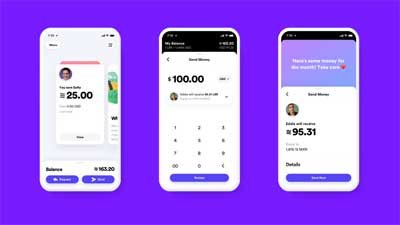 A series of screenshots with an early look at the Libra app.