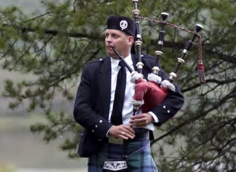 Michael Lancaster, Kansas bagpiper for hire