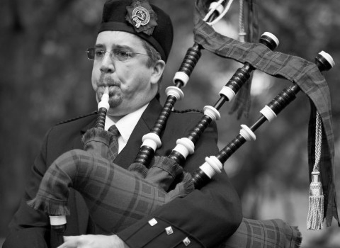 Roderick Nevin, bagpiper at the House of Piping