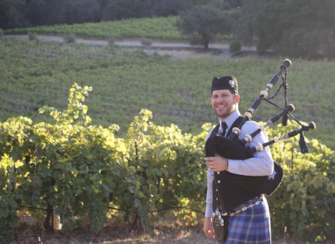 Piper Jonas, bagpiper for hire