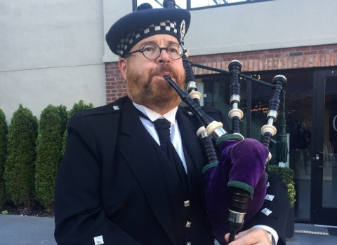 Thom Moore, bagpiper for hire