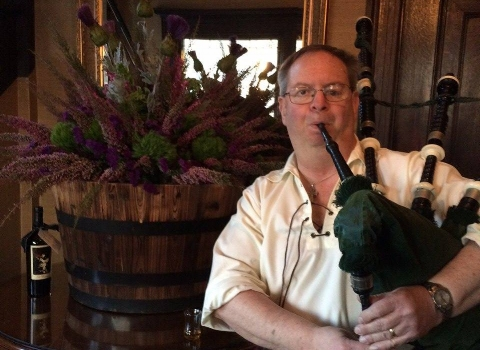 Doug Crawford, bagpiper for hire