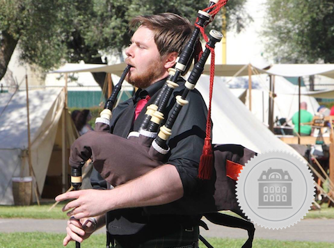 Adam Blaine, California bagpiper for hire